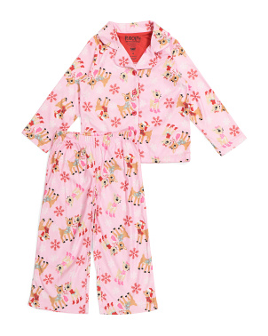 Girls Rudolph 2pc Cozy Sleep Set