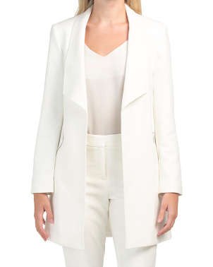 Open Zipper Pocket Topper Blazer