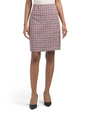 A-line Tweed Skirt