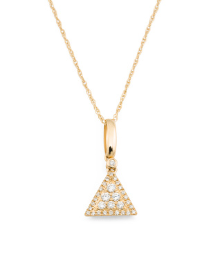 14k Gold And Diamond Vintage Style Necklace
