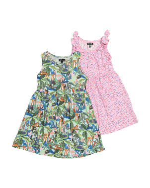 Big Girls 2pk Printed Dresses