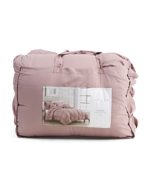 Kerry Rouched Comforter Set