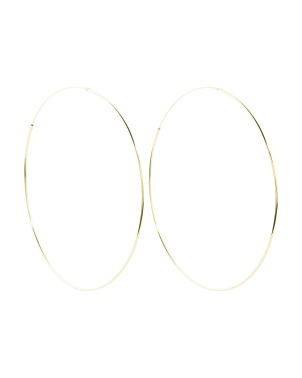 Sterling Silver 75mm Endless Hoop Earrings