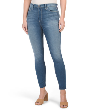 Barbara High Waist Raw Cuffs Jeans