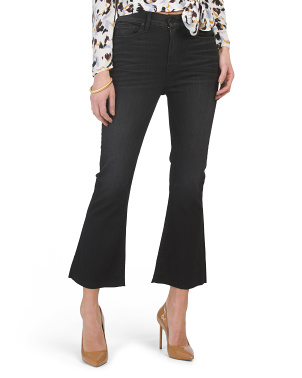 Holly High Rise Crop Flare Jeans