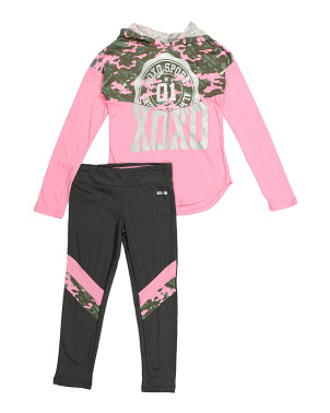 Big Girls 2pc Hoodie And Legging Set
