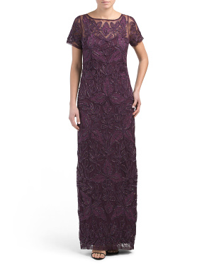 Sequin Soutache Gown