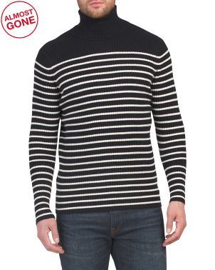 Bretton Stripe Cashmere Turtleneck Sweater