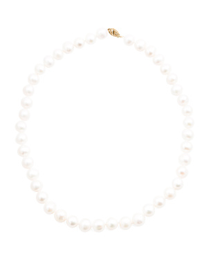Made In Usa 14k Gold And Pearl Necklace
