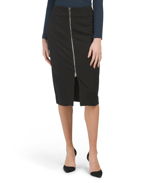 Compression Front Zip Skirt