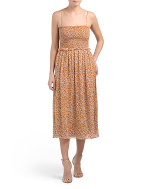 Silk Ambroise Prairie Print Midi Dress