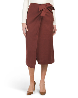 Linen Canvas Wrap Skirt