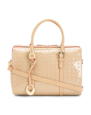 Made In Italy Patent Leather Speedy Satchel