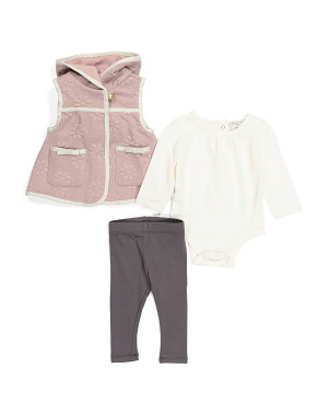 Newborn Girl Vest & Leggings Set