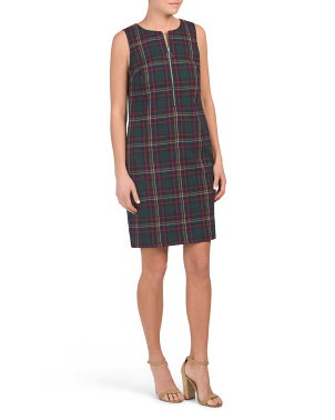Made In Usa Plaid Versed Dress