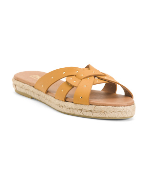 Made In Spain Leather Multi-band Sandals