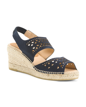 Made In Spain Mid Suede Wedges