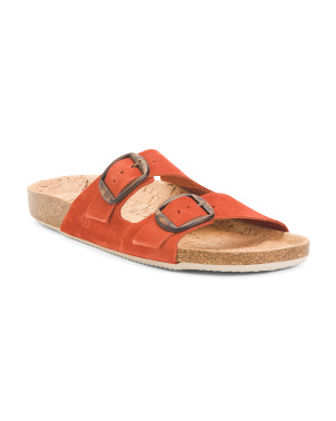 Made In Spain 2 Band Suede Sandals