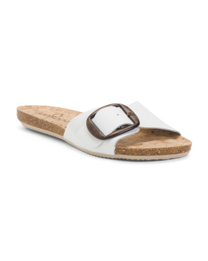 Made In Spain Leather Buckle Sandals