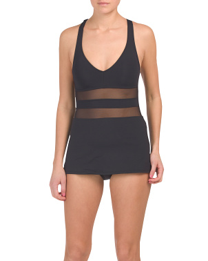 Don't Mesh With Me Skirt One-piece Swimsuit