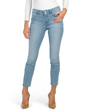 High Waist 2 Button Basic Ankle Skinny Jeans