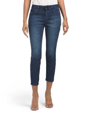 High Waisted Ultra Soft Crop Skinny Jeans