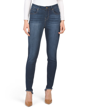 High Low Curve Hem Ankle Jeans