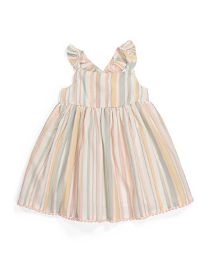 Infant Girls Striped Dress