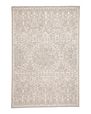 5x7 Wool Blend Textured Hand Tufted Area Rug