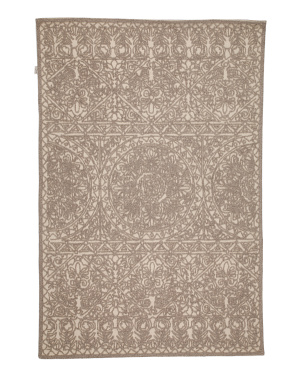 5x7 Textured Hand Tufted Area Rug