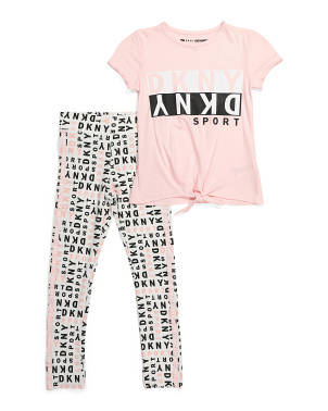 Big Girls Twist Front Legging Set