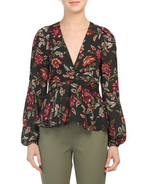 Floral Silk Logan Top