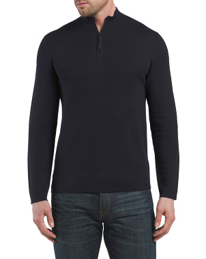 Detroe Milos Merino Wool Quarter Zip Sweater