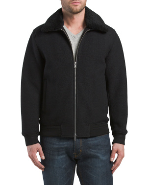 Wyatt Bergen Shearling Collar Jacket