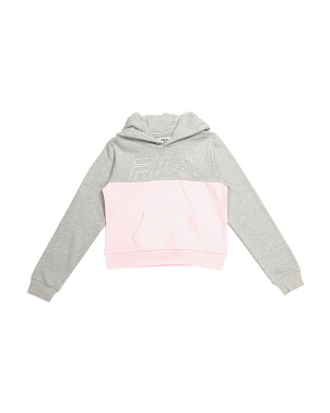 Big Girls Foil Logo Fleece Hoodie