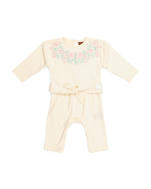 Baby Girls Embroidered Romper