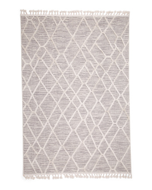 5x7 Tufted Geo Area Rug