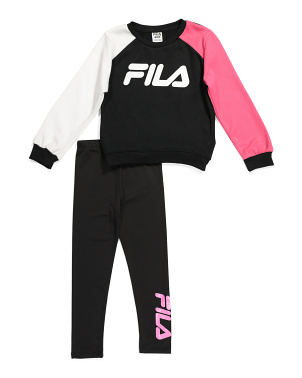 Big Girls 2pc Color Block Legging Set