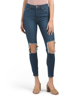 Ultra High Rise Caia Skinny Destructed Jeans