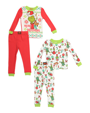 Toddler Boys 4pc Tight Fit Pajamas