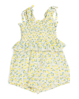 Infant Girls Lemon Romper