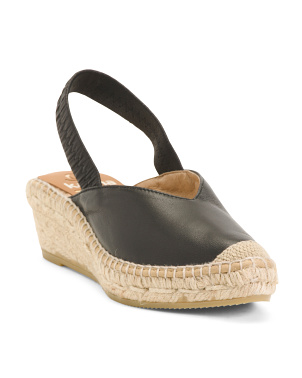 Made In Spain Leather Espadrille Wedge Sandals