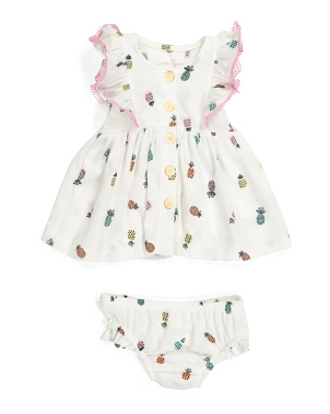 Baby Girls Pineapple Dress