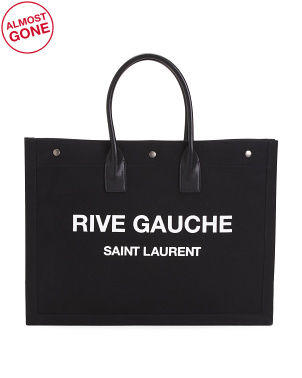 Made In Italy Rive Gauche Canvas Tote