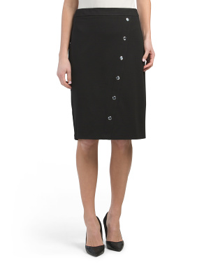Skirt With Asymmetrical Buttons