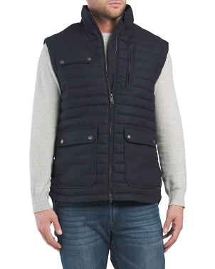 Made In Italy Gapes Valley Quilted Vest