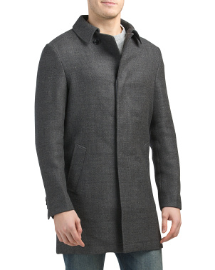 Domain Wool Blend Corner Coat