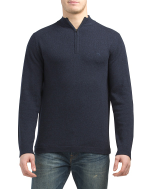 Inverness Extra Fine Lambswool Quarter Zip Sweater