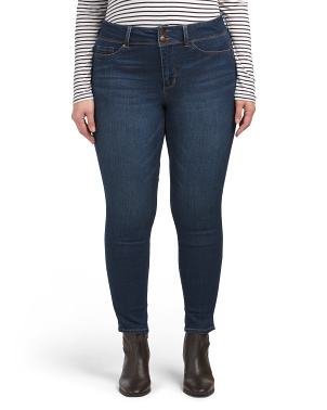 Plus 2 Button Booty Lifter Skinny Jeans