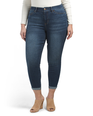 Plus Comfort Fit Ankle Jeans
